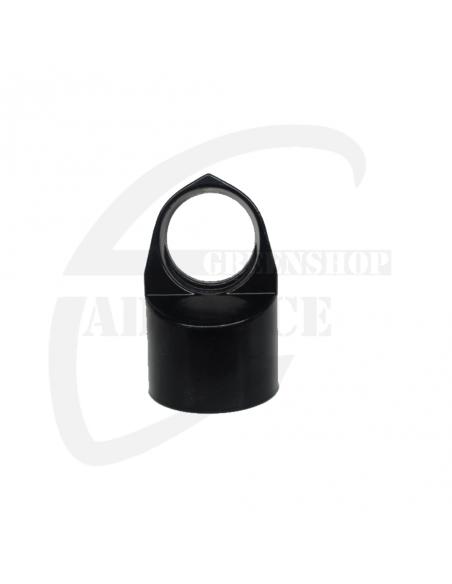 Doorvoerkop zwart (RAL 9005)