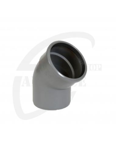 PVC bocht 45° grijs Benor 110mm mof/spie SN8