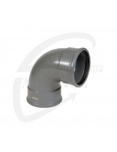 PVC bocht 88° grijs Benor 110mm mof/mof  SN8