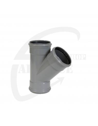 PVC T-stuk 45° grijs Benor 110mm 3xmof SN8