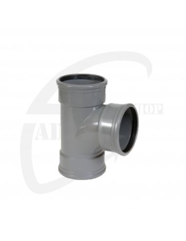 PVC T-stuk 88° grijs Benor 110mm 3xmof SN8
