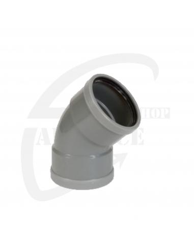 PVC bocht 45° grijs Benor 125mm mof/mof SN4