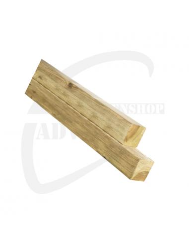 Grenen vierkantpalen 9 x 9 cm (ongepunt)