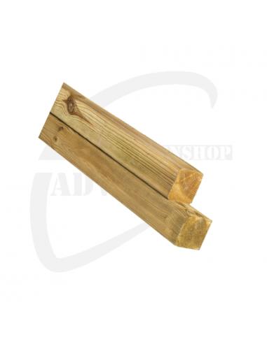 Grenen vierkantpalen 7 x 7 cm (gepunt)